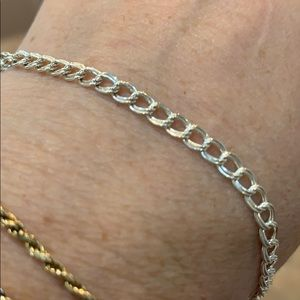 Sterling silver double link delicate chain